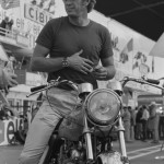 11/01/1970. 1970: Steve McQueen on the set of &quot;Le Mans&quot;