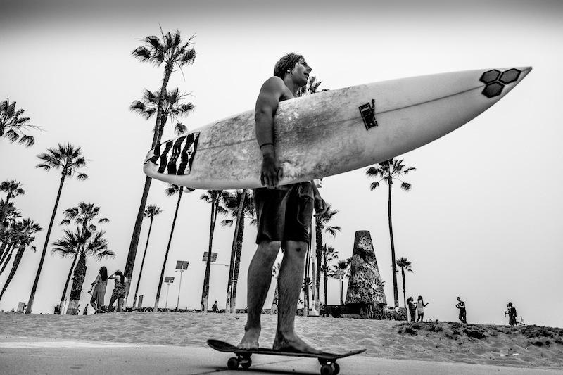 The Surfer in Venice Beach !