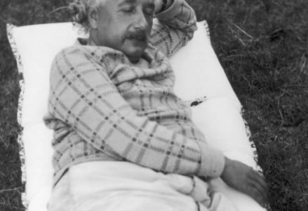 Albert Einstein dans son jardin en Allemagne 1933, Gamma-Rapho
